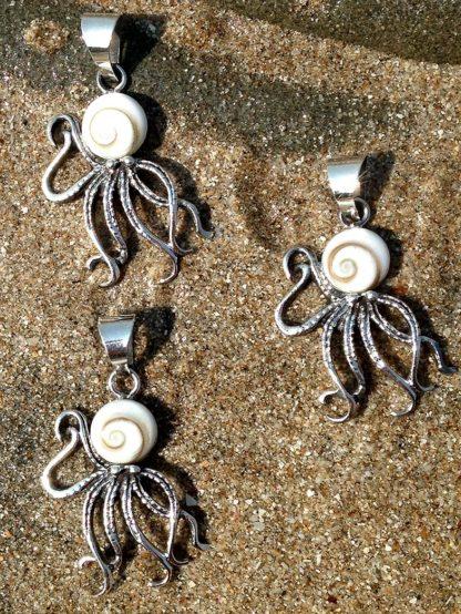 """""""Krake"""" Silber Anhänger mit Shiva Eye"""