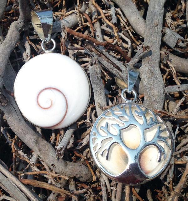 Shiva Eye Anhänger mit Lebensbaum