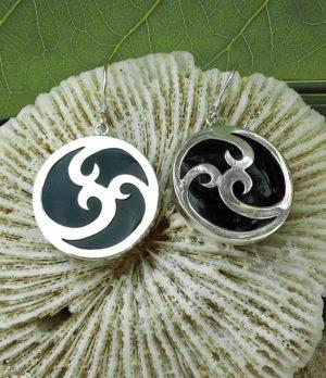 Silber Ohrringe mit Kunstharz