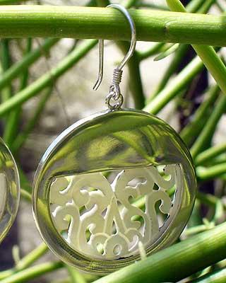 Silber Ohrringe mit Perlmutt