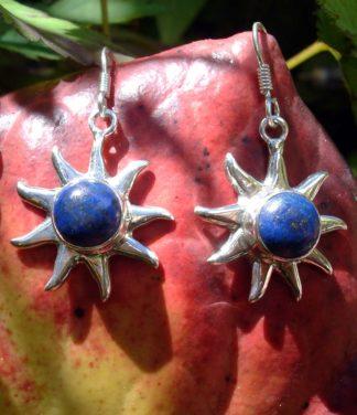 Silber Ohrringe mit Lapislazuli