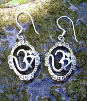 Silber Ohrringe mit Megasiten