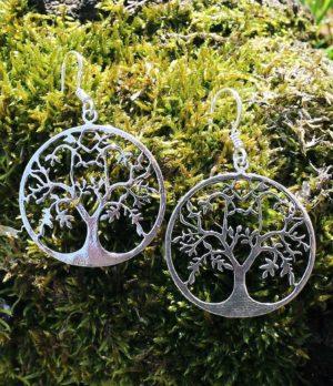 Lebensbaum Silber Ohrringe