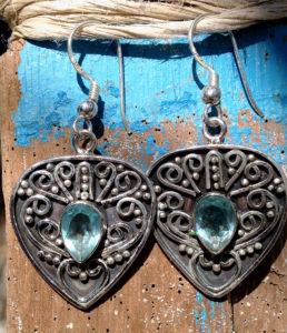Silberohrringe mit Topas, Peridot, Amethyst - Ganesha Online Shop