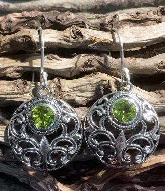 Silber Ohrringe mit Peridot günstig im Ganesha Online Shop kaufen