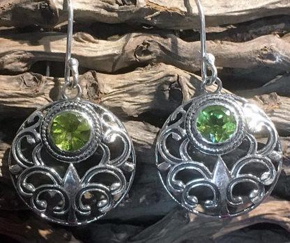 Silber Ohrringe mit Peridot im Ganesha Online Shop
