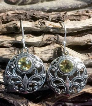 Silber Ohrringe mit Citrin im Ganesha Online Shop