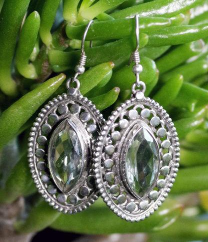 Silber Ohrringe mit geschliffenen Citrin im Ganesha Online Shop kaufen