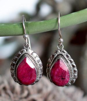 Silber Ohrringe mit Rubin im Ganesha Online Shop kaufen