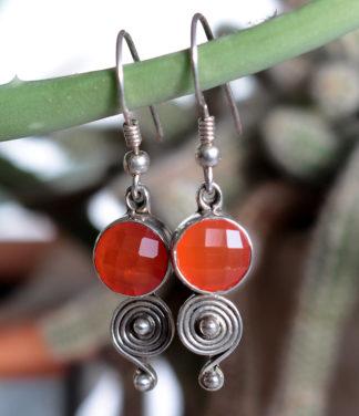 Silber Ohrringe mit Karneol im Ganesha Online Shop kaufen