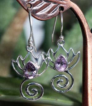 Silber Ohrringe mit Amethyst im Online Shop kaufen