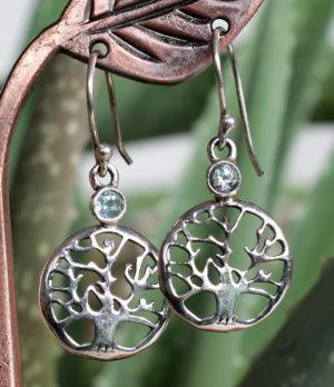 Silber Ohrringe mit Topas im Ganesha Online Shop kaufen