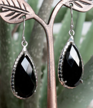 Silber Ohrringe mit Onyx im Ganesha Online Shop
