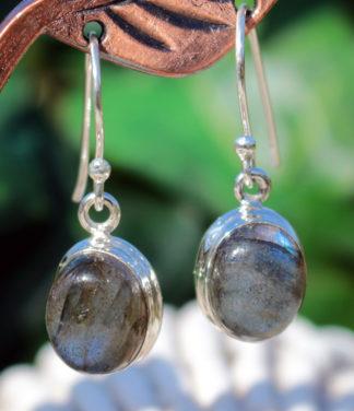 Labradorit Silber Ohrringe im Ganesha Shop kaufen