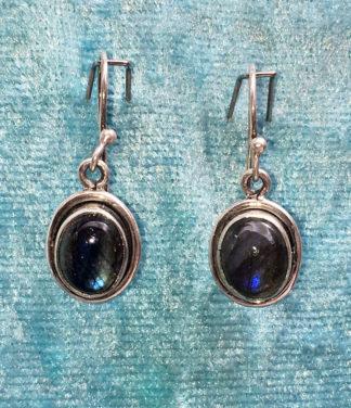 Silber Ohrringe mit Labradorit im Ganesha Online Shop kaufen