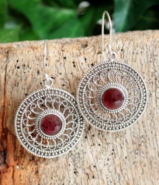 Silber Ohrringe mit Granat im Ganesha Online Shop kaufen