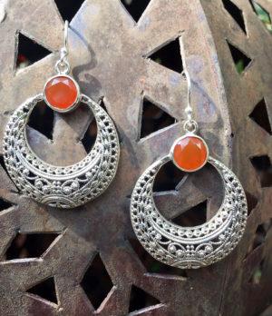 Karneol Silberohrringe im Ganesha Online Shop