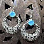 Silberohrringe mit Chalcedon aus Indien im Online Shop