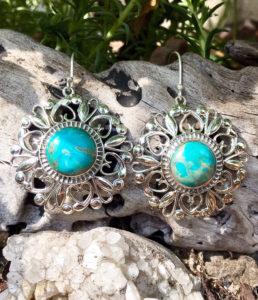 Silber Ohrringe mit Türkis Steinen im Ganesha Online Shop kaufen