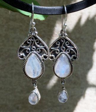 Mondstein Silber Ohrringe im Ganesha Online Shop