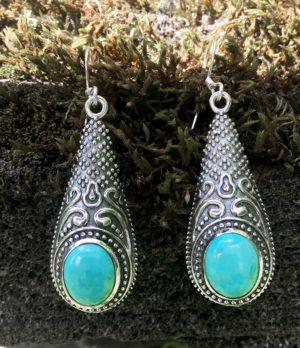 Silberohrringe mit Türkis im Ganesha Online Shop kaufen