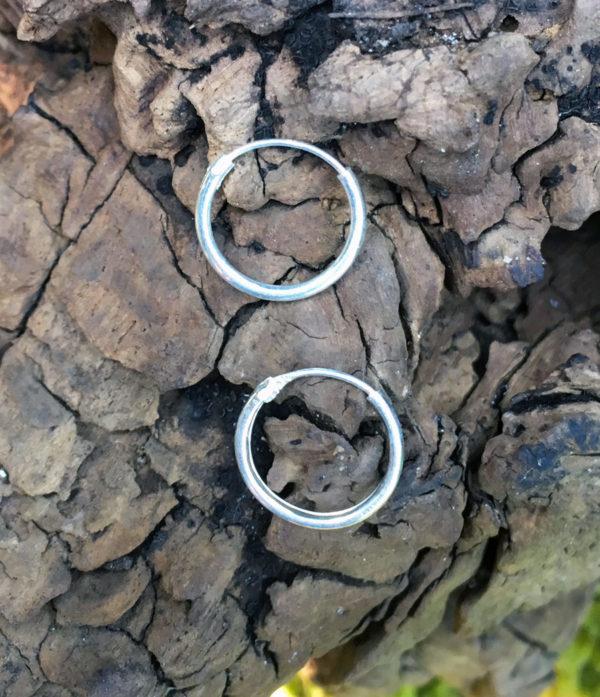 Creolen Ohrringe aus Silber