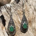 Silberohrringe mit Smaragd im Ganesha Online Shop