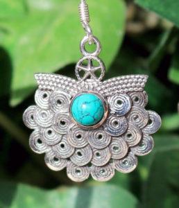 Silber Ohrringe mit Türkis