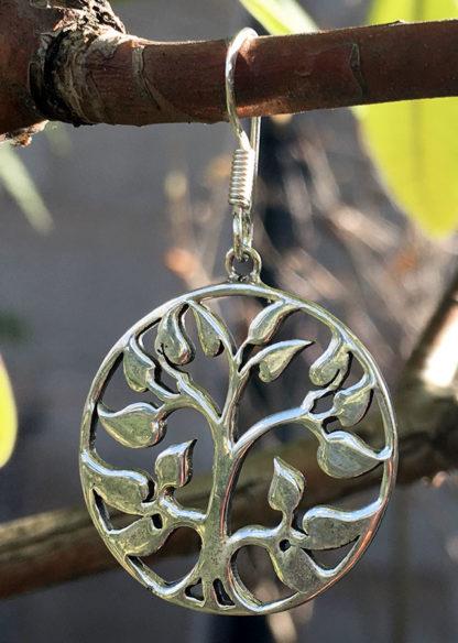 Lebensbaum Silberohrringe
