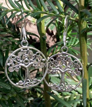 Lebensbaum Silberohrringe im Ganesha Online Shop kaufen