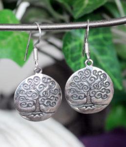 Lebensbaum Silberohrringe aus Indien kaufen