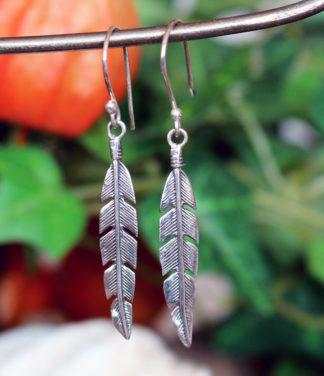 Feder Silber Ohrringe im Ganesha Online Shop kaufen