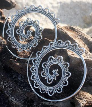Spirale Silber Ohrringe im Ganesha Online Shop