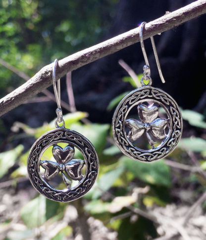Kleeblatt Silber Ohrringe im Ganesha Shop kaufen