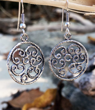 Runde filigrane Silber Ohrringe im Ganesha Online Shop