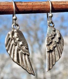 Flügel Silber Ohrringe im Ganesha Online Shop