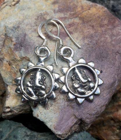 Ganesha Silber Ohrringe im Ganesha Online Shop