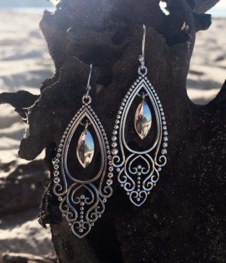 Filigrane Silberohrringe aus Indien online kaufen