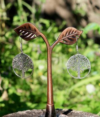 Lebensbaum Silberohrringe im Ganesha Online Shop
