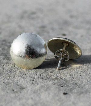 Runde Silber Ohrstecker