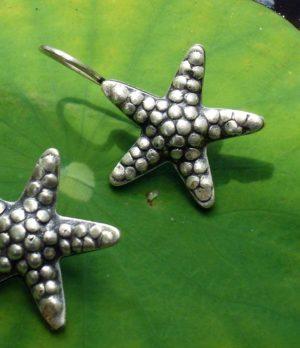 Seestern Silber Ohrringe aus Chiang Mai