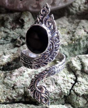 Silberring mit Onyx