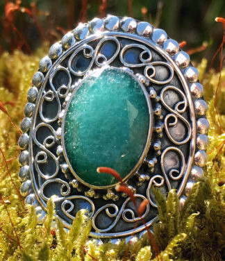 silberring mit smaragd ganesha online shop
