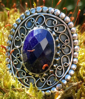 Silberring mit Saphir - Ganesha Online Shop