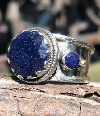Saphir Silberring im Ganesha Online Shop