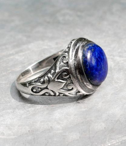 Herrenring aus Silber mit Lapislazuli - Ganesha Online Shop