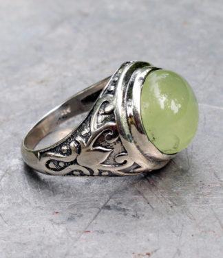 Herren Silberring mit Serpentin - Ganesha Online Shop