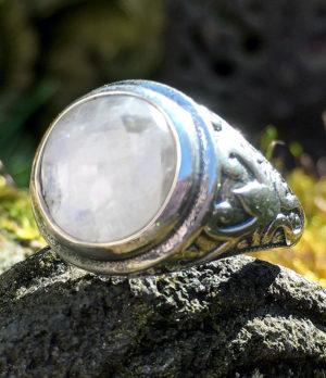 Herren Silberring mit Mondstein - Online Shop