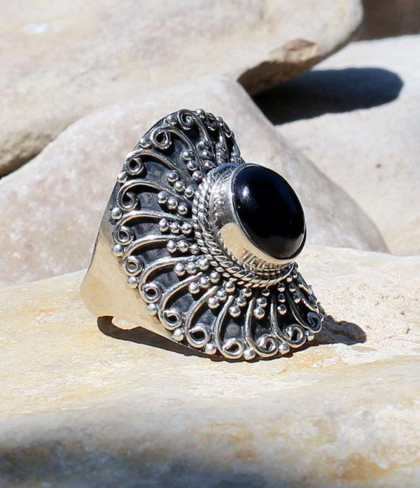 Silberring mit Onyx - Online Shop