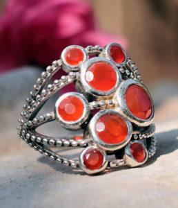 Karneol Silberring aus Indien - Shop